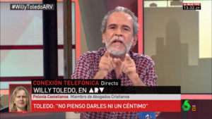 Willy Toledo en Al rojo vivo.