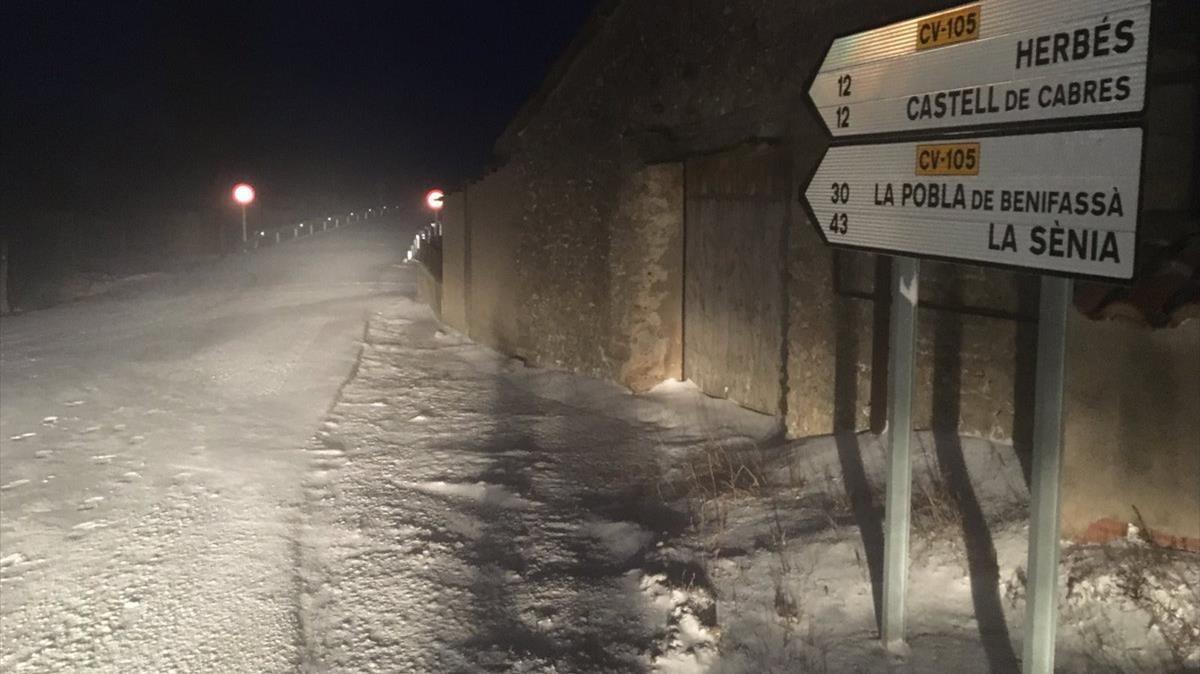 Prohibida la circulació de camions en algunes carreteres catalanes per l'onada de fred
