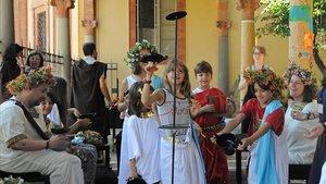 La festa de Dionís, un autèntic banquet grec