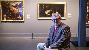 Miguel Falomir, el jueves en la exposición 'Velázquez y el siglo de oro'.