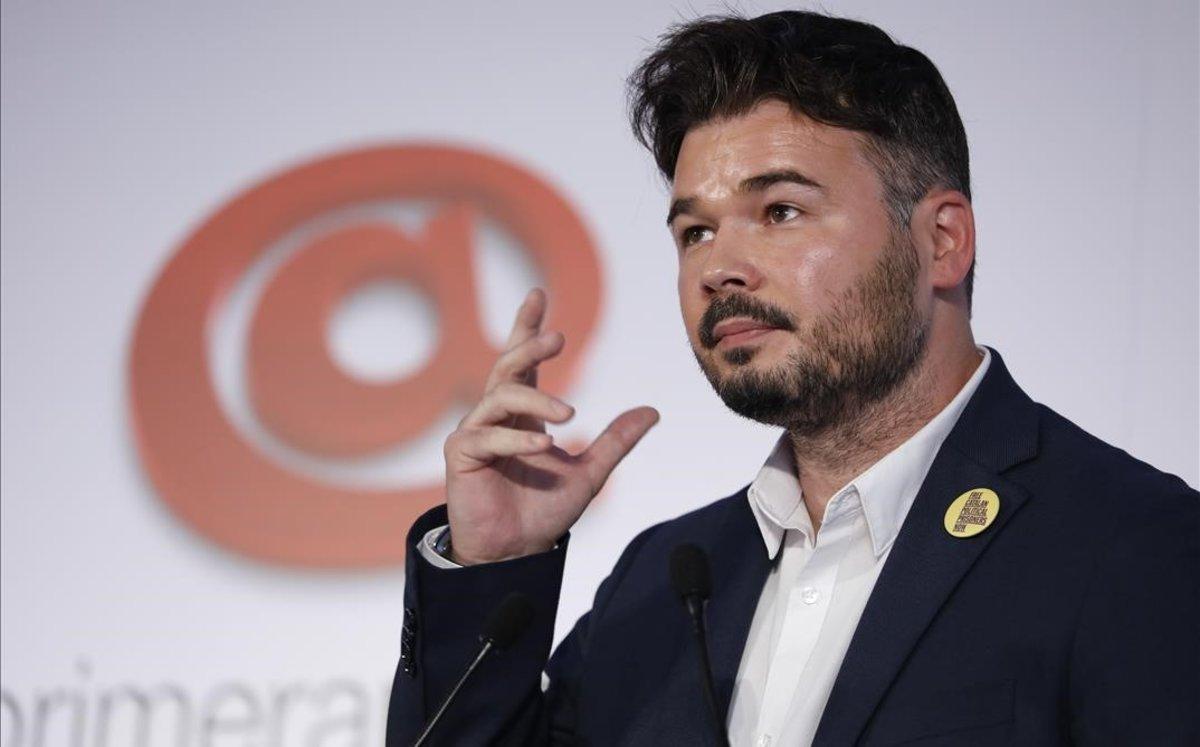 Rufián preveu eleccions catalanes al febrer