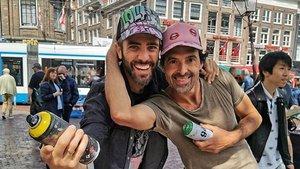 Roberto Leal es topa amb Metro a Amsterdam