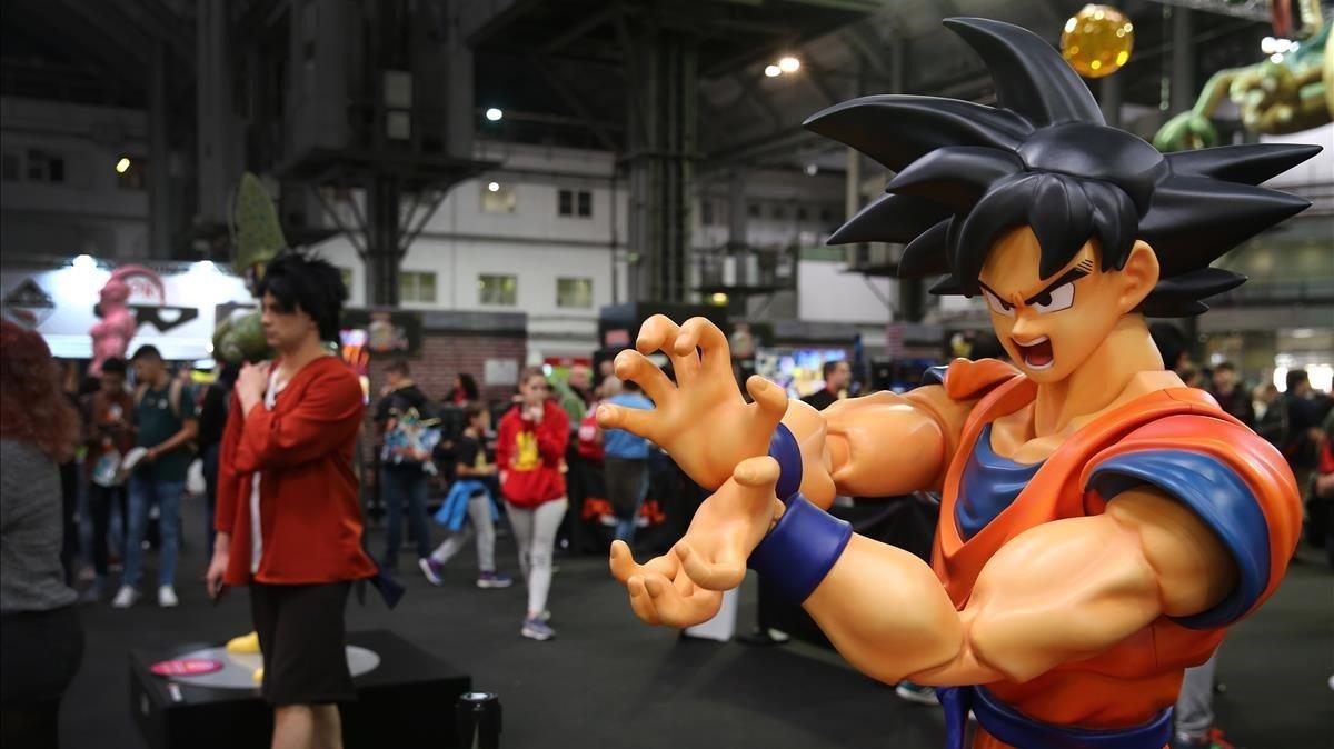 Ambiente en el Manga Barcelona en la muestra 'Dragon Ball World Adventure'.
