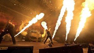 Amon Amarth, en un concierto.