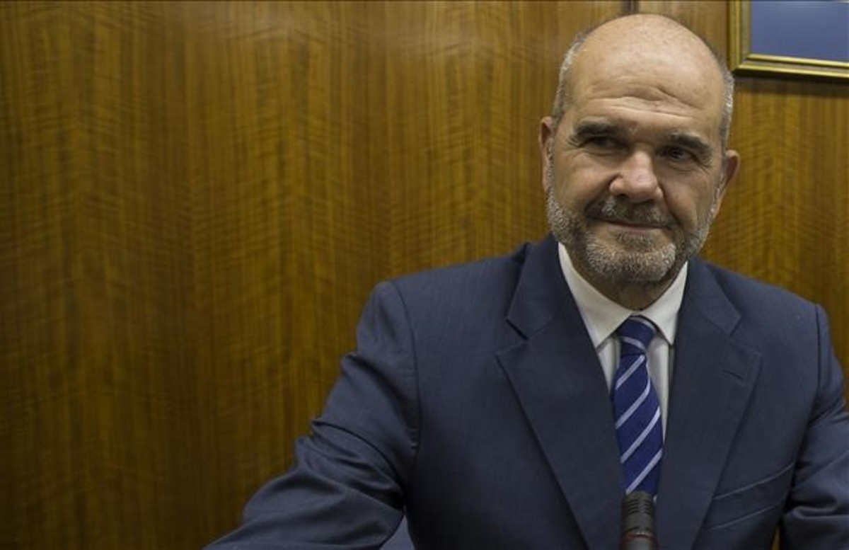 El expresidente andaluz Manuel Chaves, en la comisión de investigación del caso ERE, en el Parlamento andaluz.