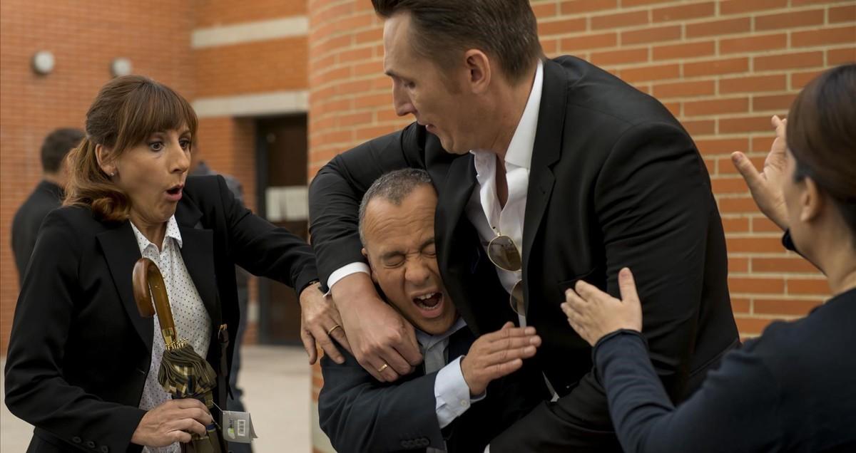 Alterio, Gutiérrez y Francisco Reyes, en un momento de la serie.
