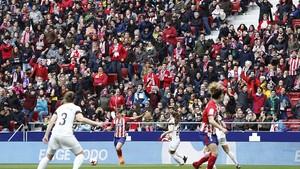 Más de 22.000 personas siguieron el derbi madrileño en el Wanda Metropolitano
