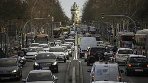 tráfico en Barcelona