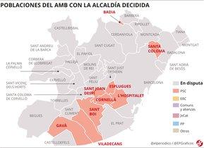 Les altres grans ciutats metropolitanes on es negocien pactes 'in extremis'
