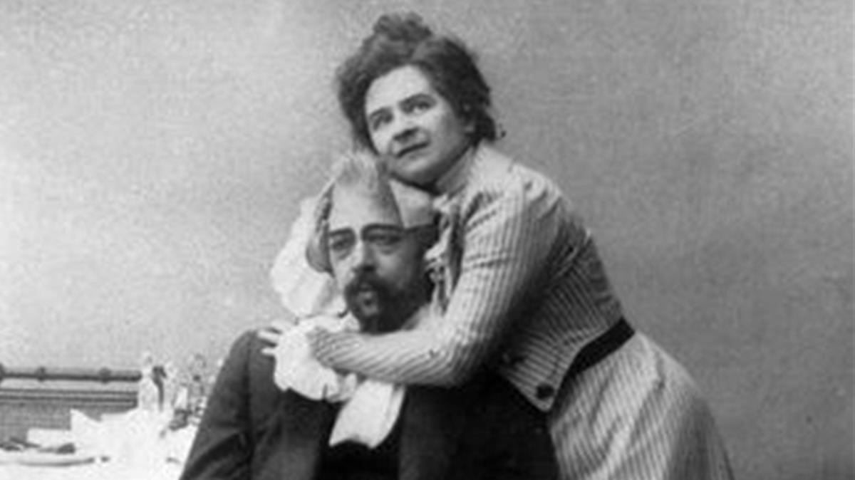 El matrimonio Antón Chéjov y Olga Knipper.