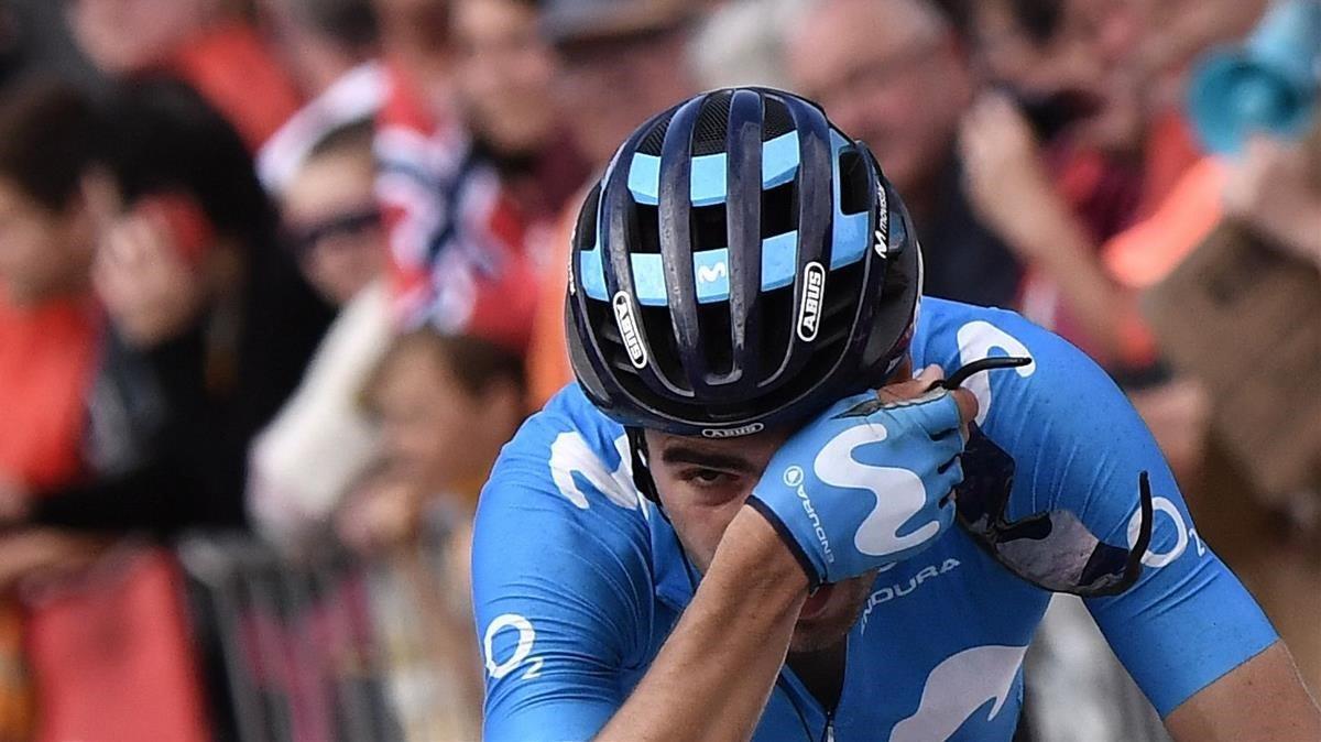 Mikel Landa, en una etapa del Tour de Francia 2019
