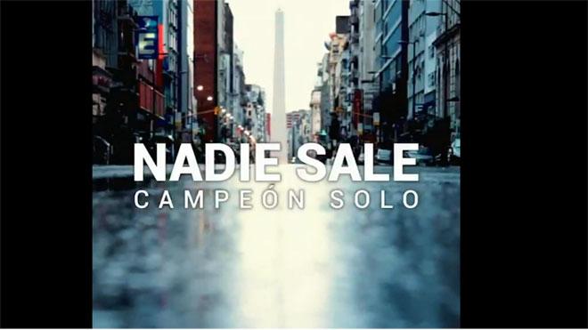 La Asociación de Fútbol Argentino anima a quedarse en casa con este vídeo.