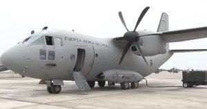 Un avión del Ministerio del Interior peruano, enviado a la zona del accidente.