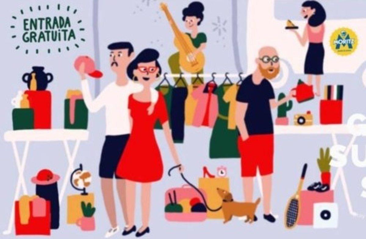 El cartel delBarcelona Vintage Market.