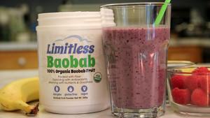 Batido de baobab de la marca Limitless Good.