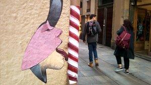 Una de las creaciones del artista callejero BL2A.
