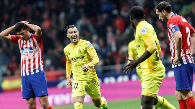Borja y Doumbia, coautores del 3-3 definitivo, celebran el tanto de la clasificación.