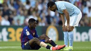 Boufal se interesa por Dembélé después de que el delantero del Barça se lesionara.