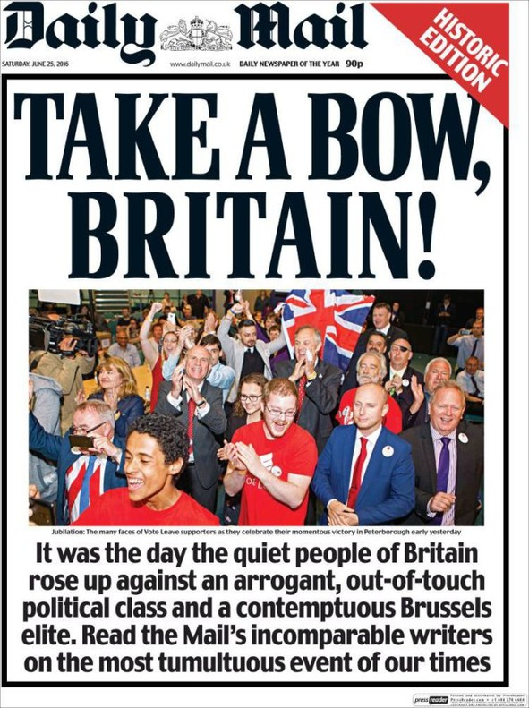La portada del 'Daily Mail'.