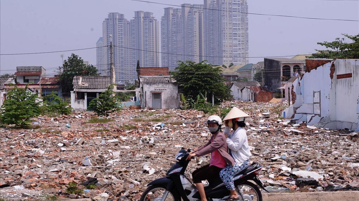 Foto de archivo del centro financiero de Ho Chi Minh.