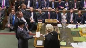 Comunicación del resultado de la votación sobre el 'brexit' en la Cámara de los Comunes.