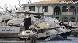 Destrozos causados por el huracán Irma en Tortola (Islas Vírgenes Británicas), el 13 de septiembre.