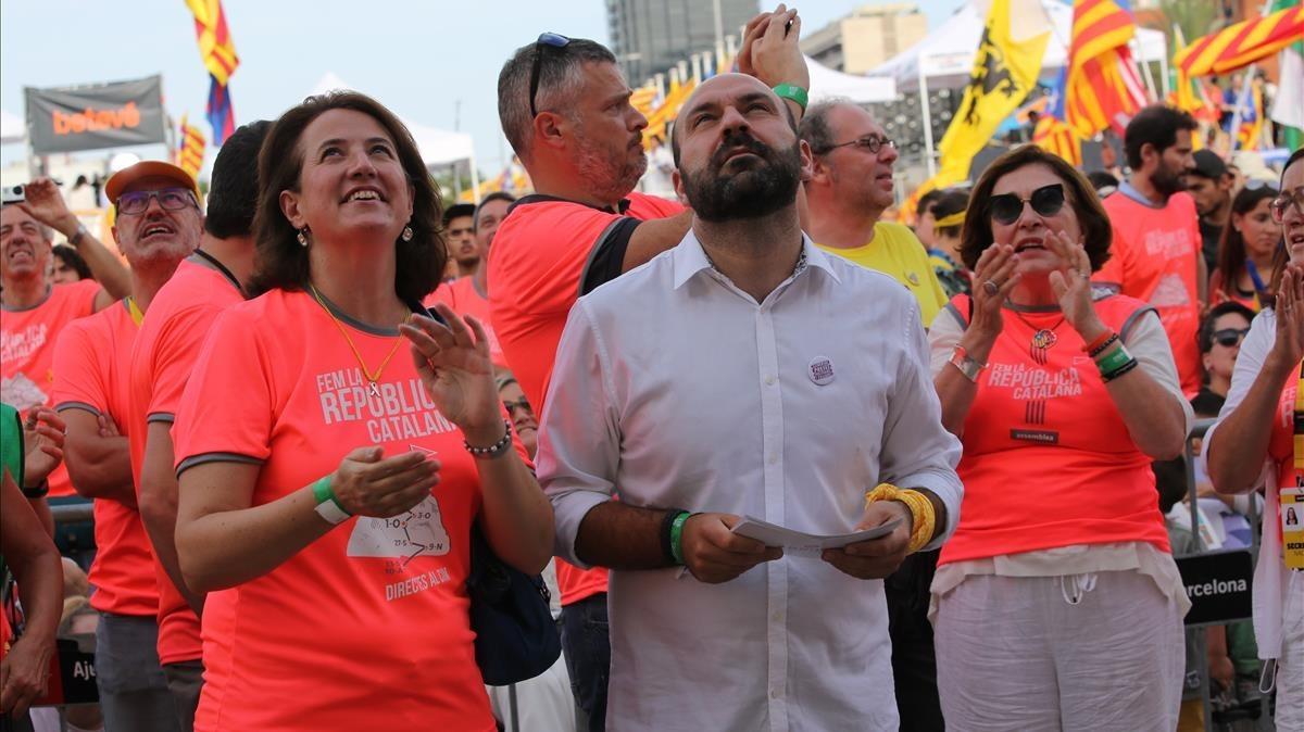 Manifestación de la Diada en la Diagonal de Barcelona.