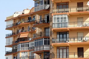 Edificios de apartamentos en Fuengirola.