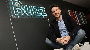 Eduard Corral, en la sede de Buzz.