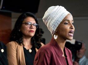 Las congresistas demócratas de los Estados Unidos, Ilhan Omar yRashida Tlaib. EFE