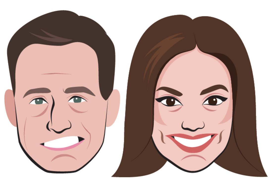 Los emoticonos de los presentadores de Antena 3, Matías Prats y Mónica Carrillo.