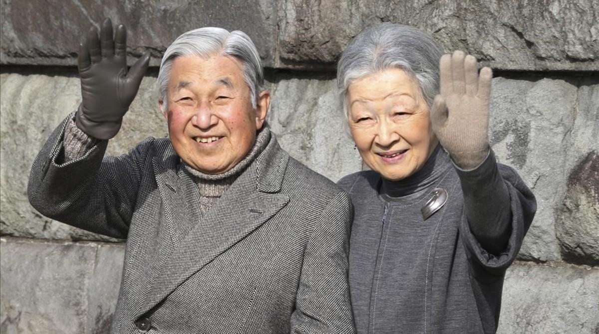 El emperador Akihito y la emperatriz Michiko el pasado febrero en Tokyo.