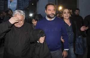El empresario José Adolfo Vedri, cuando fue detenido en el marco de la operación Taula, el pasado 28 de enero.