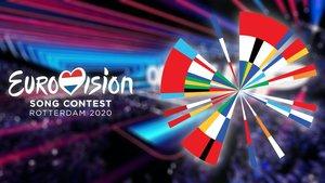 El escenario y el logo de Eurovisión 2020.