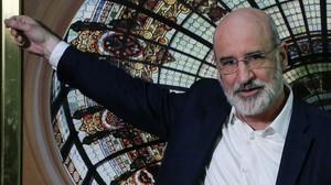 El escritor donostiarra Fernando Aramburu, este lunes en el Instituto Cervantes de Madrid.