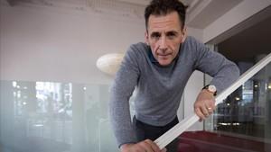 El escritor sueco David Lagercrantz, el lunes en Madrid, presentando 'Millennium 5'.