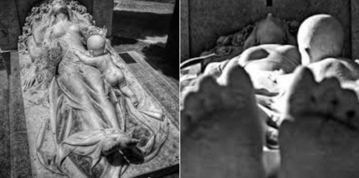El misterio sobre una escultura en una tumba de Barcelona se resuelve en las redes sociales