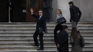 El 'expresident' Artur Mas llega, este viernes, al TSJC.