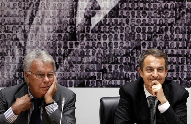 Felipe Gonzalez y José Luis Rodríguez Zapatero.