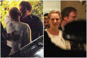 La foto d'Uma Thurman i Quentin Tarantino besant-se a Beverly Hills, el passat dia 17.