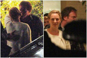 La foto de Uma Thurman y Quentin Tarantino besándose en Beverly Hills, el pasado día 17.