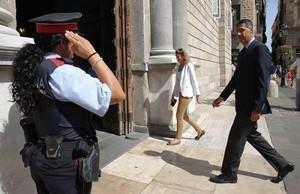 Xavier García Albiol entra en el Palau de la Generalitat, este lunes.