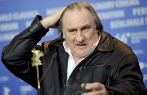 Gerard Depardieu, durante la presentación dela película Saint-Amouren la Berlinale.