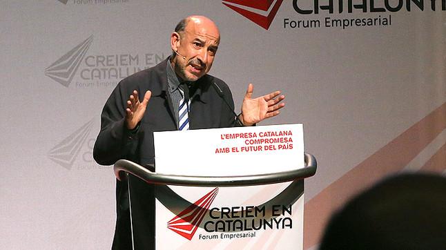 Germà Bel, al Fòrum Empresarial Creiem en Catalunya, el 23 d'octubre del 2014.