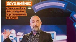 Portada del suplemento Teletodo protagonizada por el humorista Goyo Jiménez.