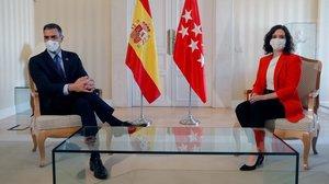 Isabel Díaz Ayuso y Pedro Sánchez, en su encuentro.