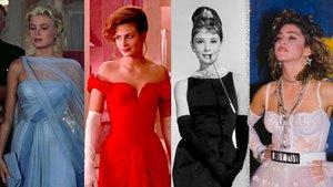 De izquierda a derecha, Grace Kelly, Julia Roberts, Audrey Hepburn y Madonna, con cuatro modelos inolvidables.