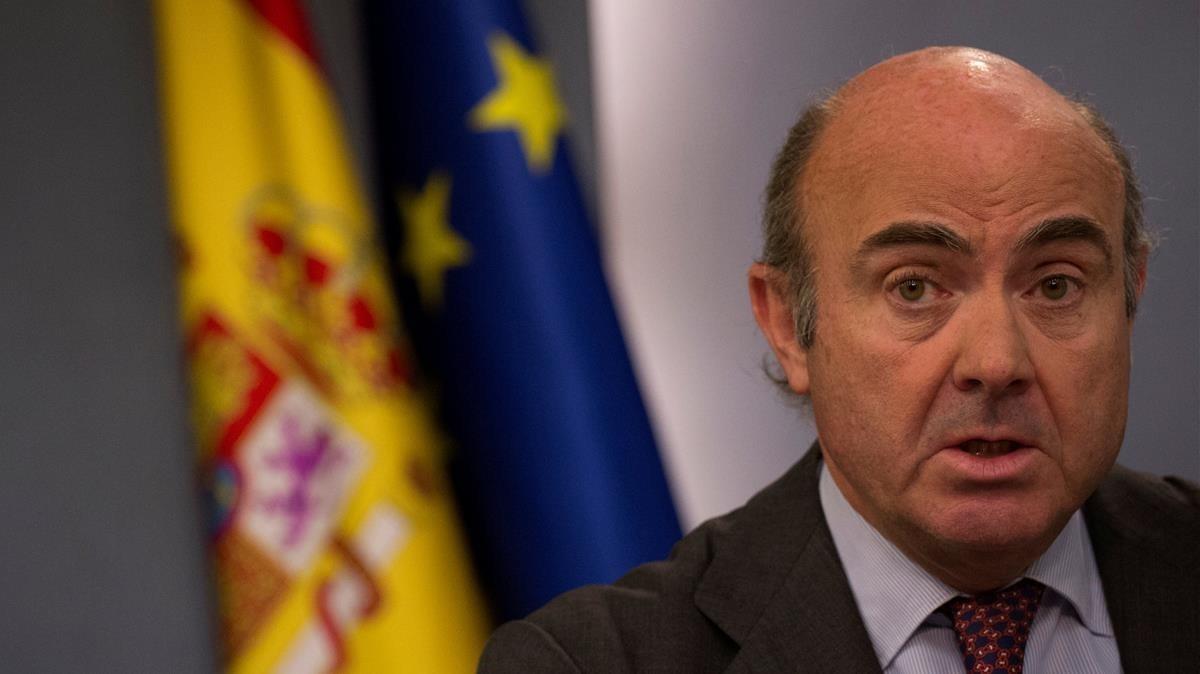 Luis de Guindos, durante su época como ministro de Economía.