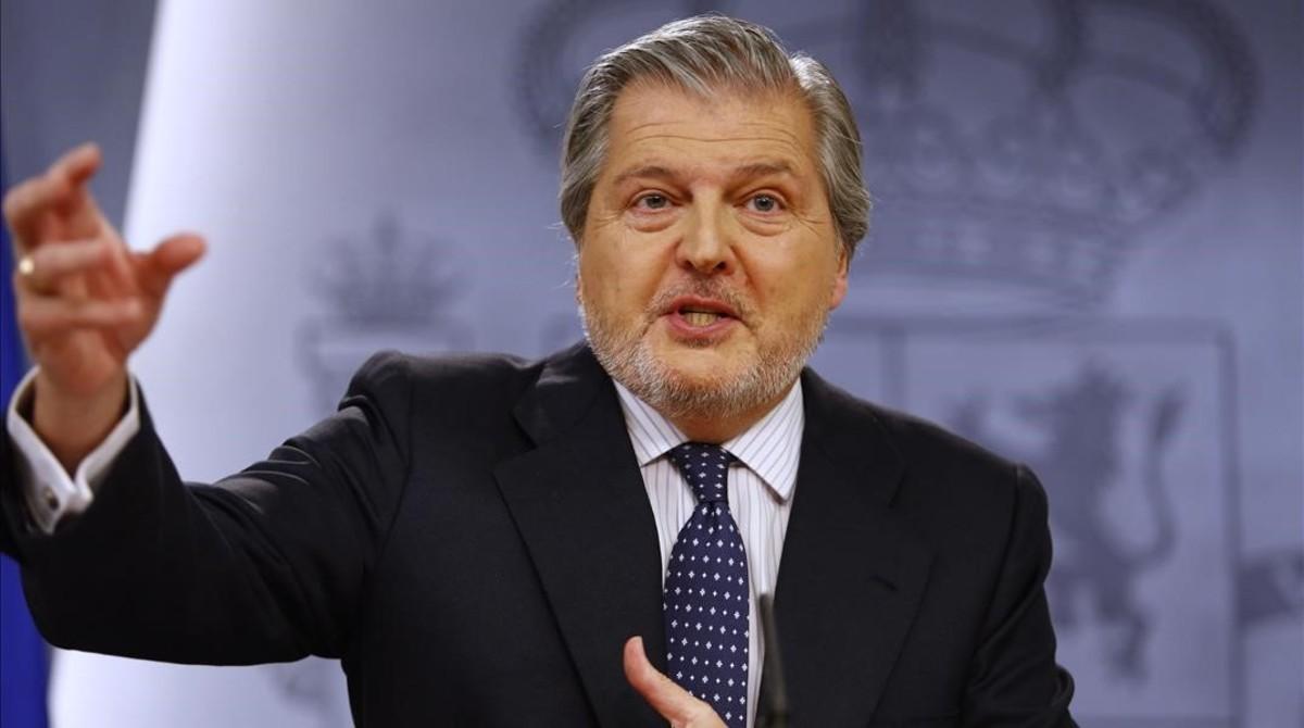 El portavoz del Gobierno, Íñigo Méndez de Vigo, este viernes en la rueda de prensa posterior al Consejo de Ministros.