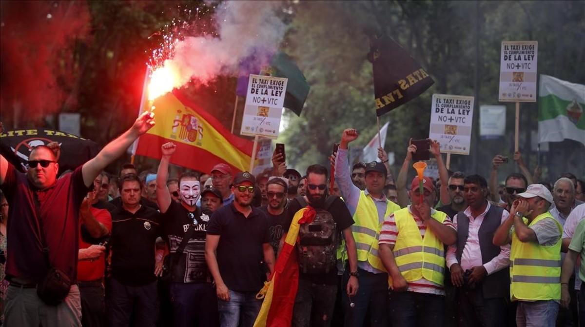 Recorrido de la huelga por la capital.